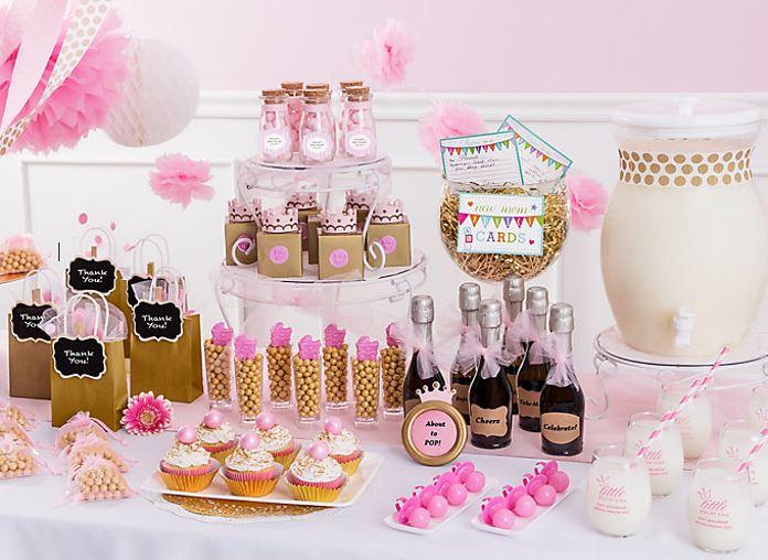 una m gica rosada y muy dulce bienvenida para tu princesa vainilla cakes. Black Bedroom Furniture Sets. Home Design Ideas