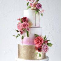 Torta Drip Cake Floral